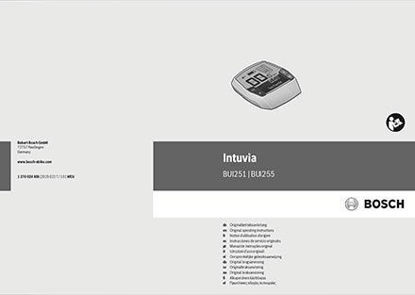 Picture of Bosch MY20 Intuvia user manual