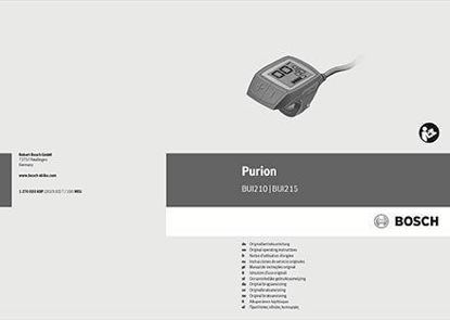 Picture of Bosch MY20 Purion user manual